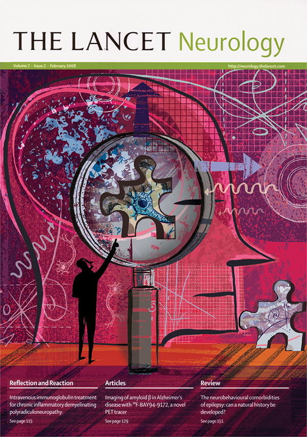 Lancet Neurology Cover Illustrations on Behance
