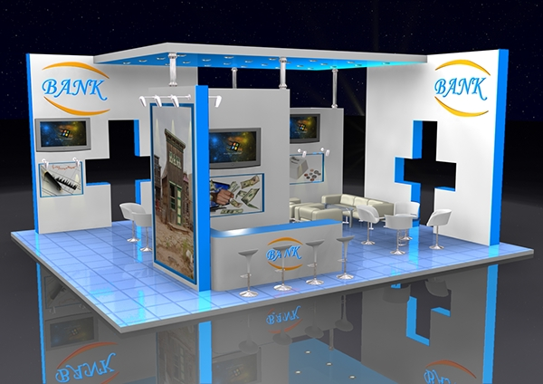 Excellent Exhibition Stand Design : D exhibition stand designs on behance