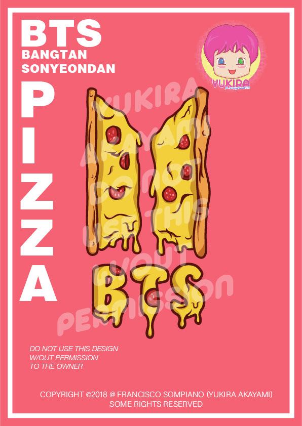 Pizza bts bangtansonyeondan BangtanBoys logo logodesign kpop