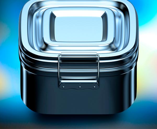 reflection steel metal box ios7 ios