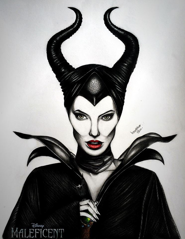 Pencil Sketch - Maleficent on Behance