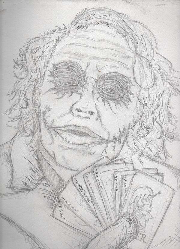 Joker Sketch On Behance