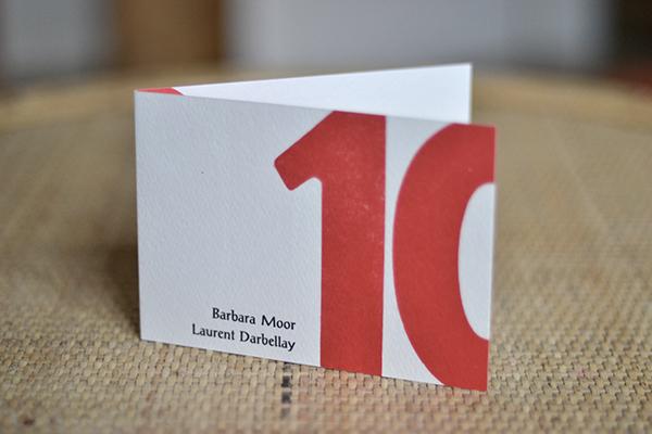 wedding announcement swiss design graphic letterpress