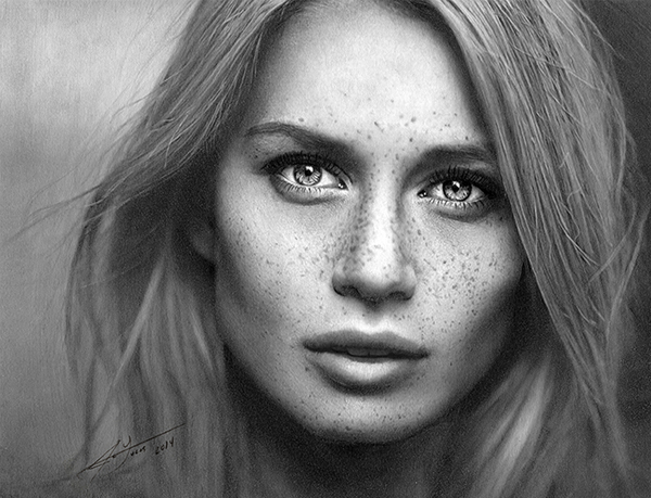 Female Graphite Pencil Portrait By Julio Lucas on Behance