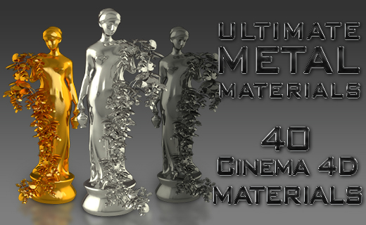 Cinema 4D Ultimate Metal Materials Pack on Behance