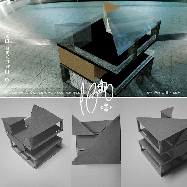 9 square grid architectural spatial model on behance for 9 square architecture