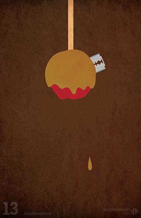 Minimalist Classroom History ~ Hallowe en minimalist poster series on behance