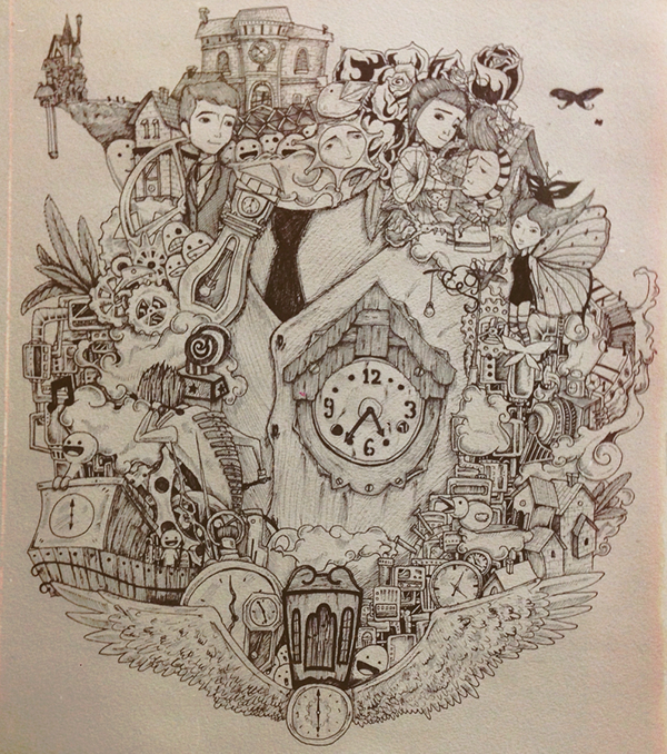 Cuckoo Clock Drawings Cuckoo Clock Heart And Jack
