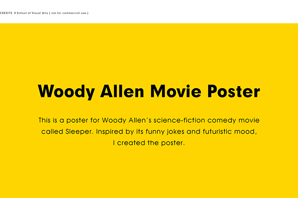 woody allen movie poster poster vector ILLUSTRATION  mailing tube