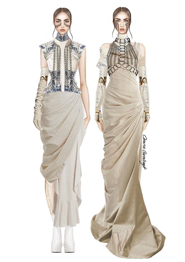 """""""Porcelain"""" Fashion design project"""