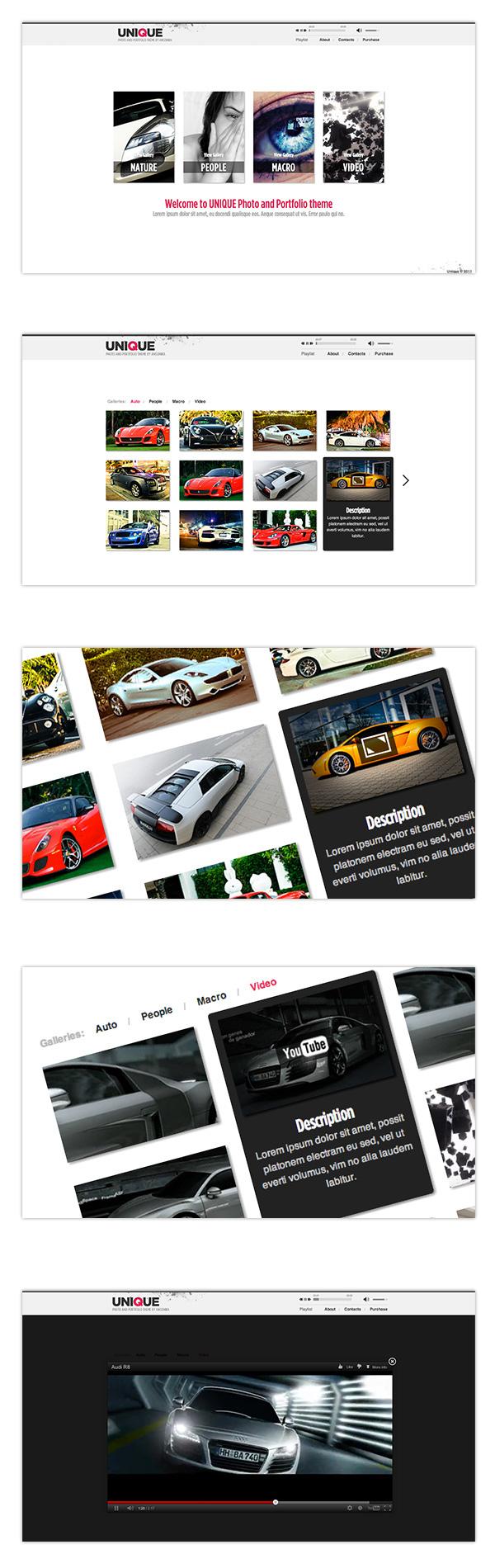 gallery one page photography portfolio video video portfolio