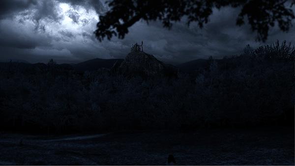 Moody dark Set Extension Castle thunderstorm night