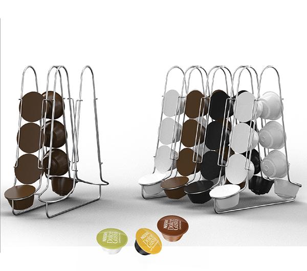 nestle dolce gusto capsule holder on pantone canvas gallery. Black Bedroom Furniture Sets. Home Design Ideas