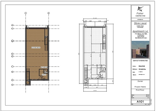 Revit Blueprint Design Bakery On Behance