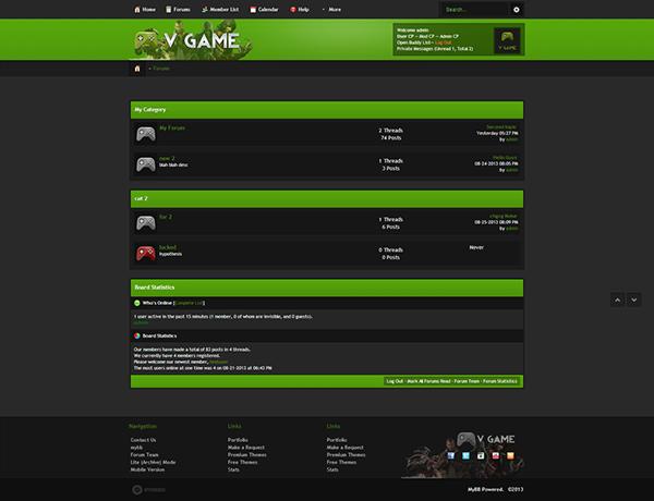 V Game MyBB Premium Gaming Template on Behance