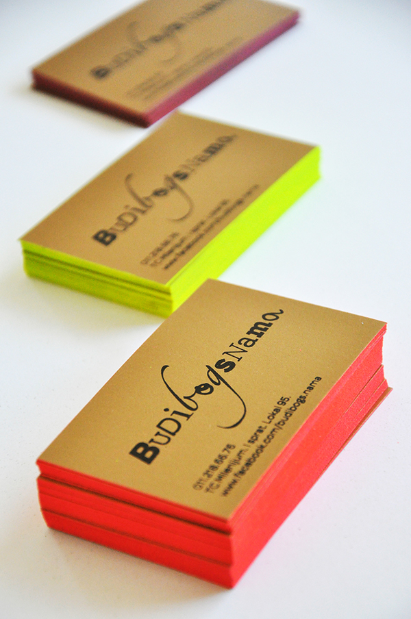 25+ Stunning Examples of Edge Colored Business Cards