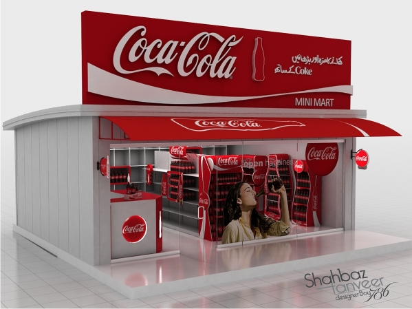Coca Cola Gifts >> Coca Cola 3d Model Shop With Complete Branding On Behance