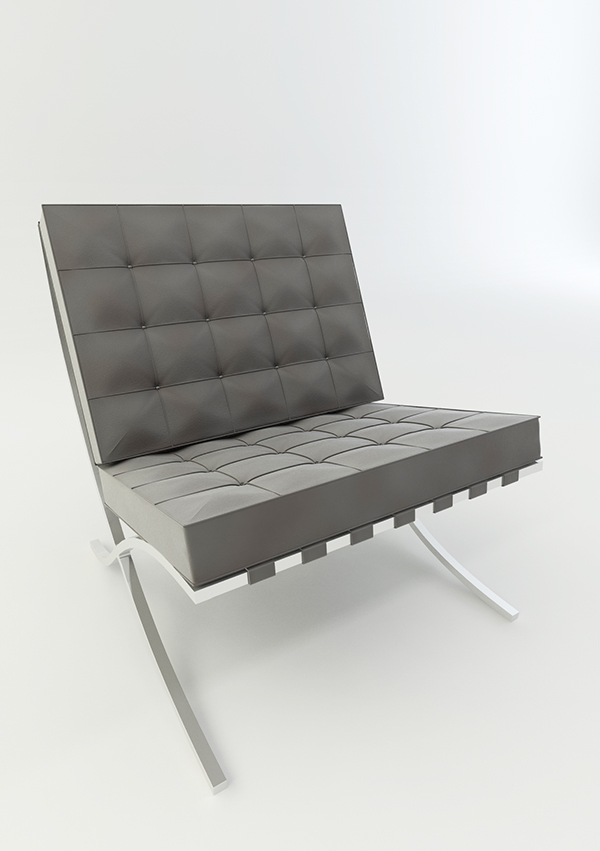 Bon Barcelona Chair 3D Model On Behance