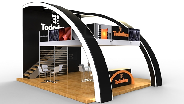 Exhibition Booth Flooring : Tododren floor exhibition booth on behance