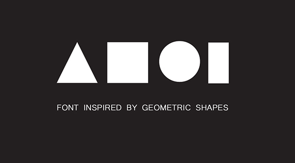 Font Inspired By Geometric Shapes On Behance