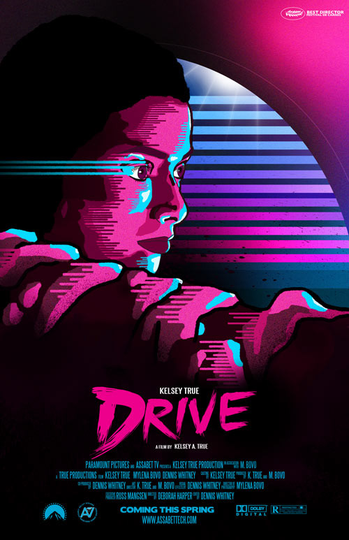 Design based on the movie Drive.