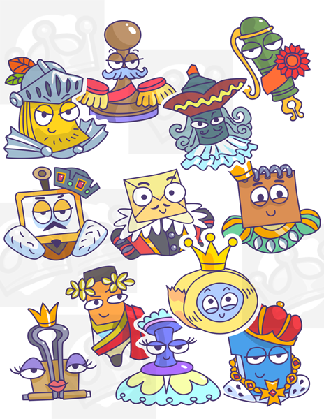 trivia game ui ui design UI Adobe XD cartoon characters