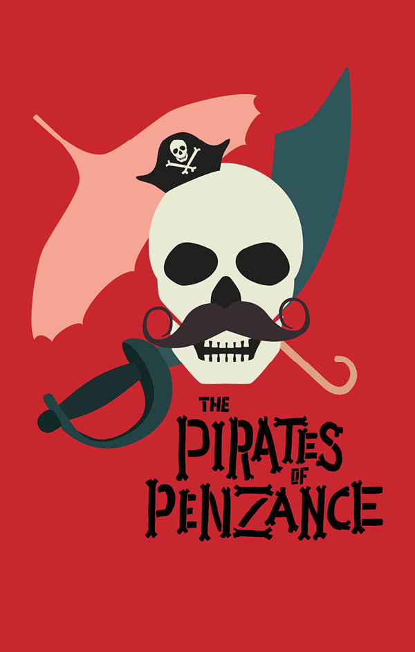 key art theater  choir chorus mastervoices master voices watercolor opera gilbert and sullivan purcell Pirates of Penzance dido and aeneas season