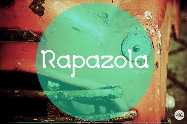 Typeface font Rapazola