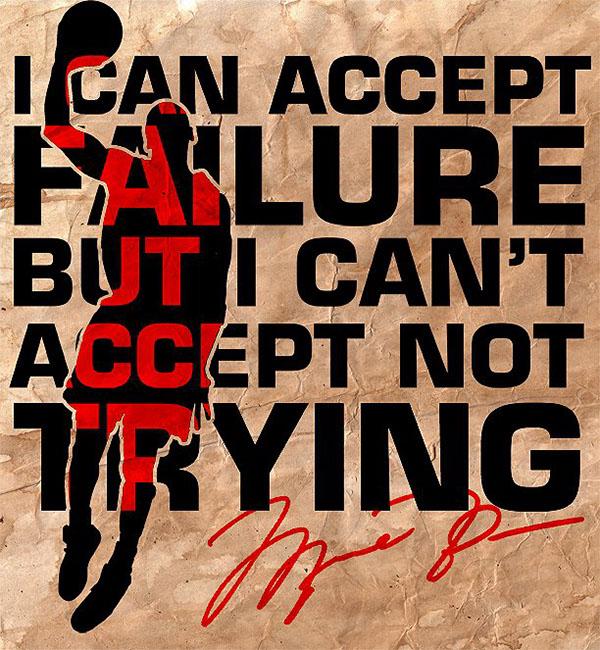 Michael Jordan Quote - Poster Design on Behance