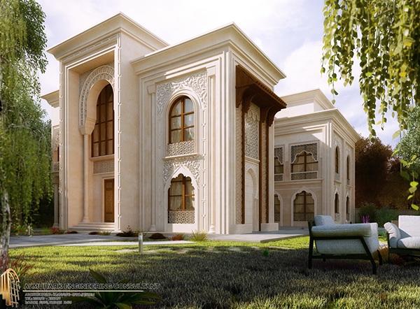 Islamic villa on behance for Classic villa design