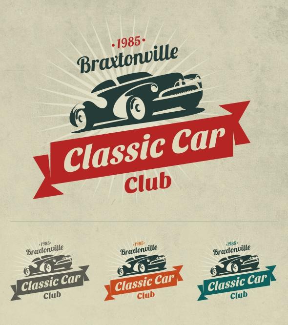 Classic Car Club Logo on Behance