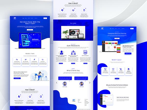 Software Landing Page Design