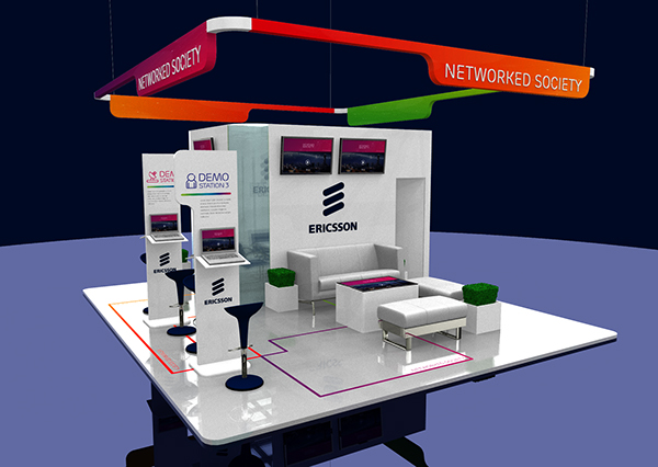 Exhibition Stand Concept : Ericsson exhibition stand concepts on behance