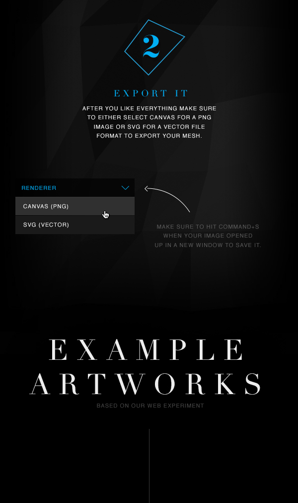JavaScript canvas 2D surface 3Dmesh mesh shader css art