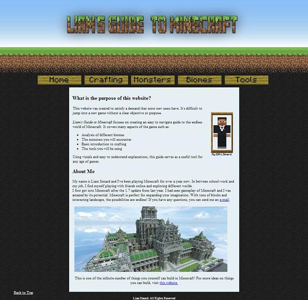 Minecraft Website on Behance