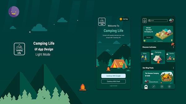 Camping App | UI UX Design