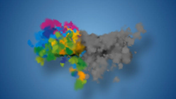 Particles Smoke Logo Reveal After Effects Template on Behance