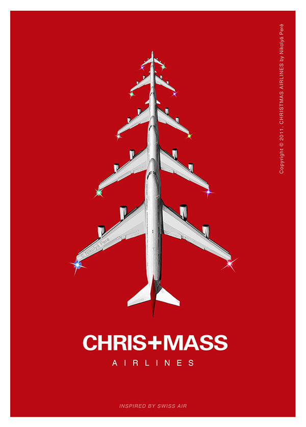 Christmas airlines postcard series on behance for Advertise for companies