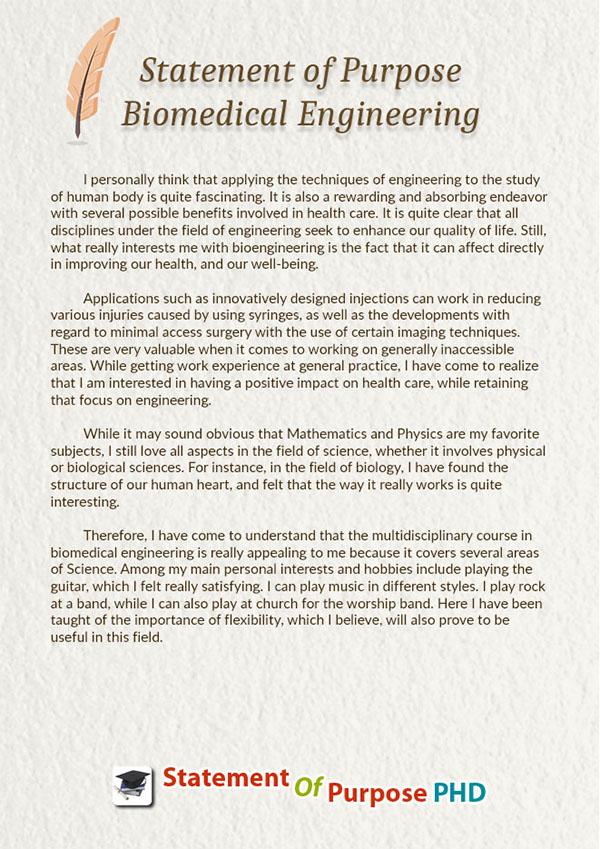 Sample statement of purpose biomedical engineering on pantone.