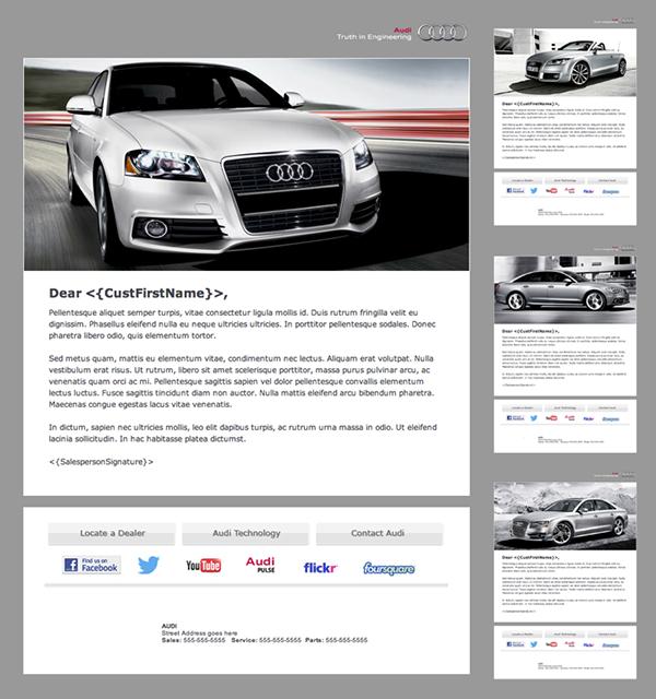 Audi Branded Automotive Dealership Email Newsletter On Behance