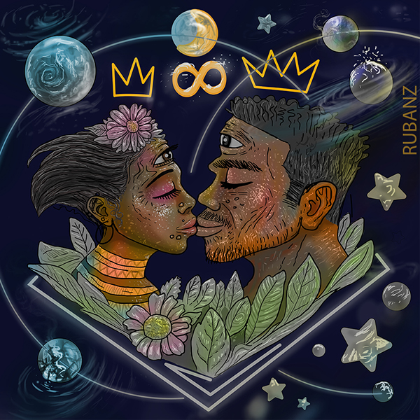 Black King Queens And The Universe Inside On Pantone Canvas Gallery