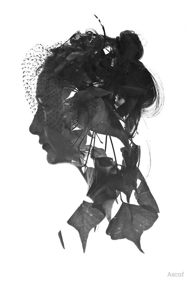 Ascaf double exposure portraits israel Nature people humans leaves branches