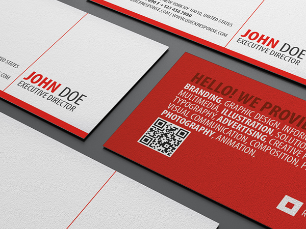 Red square quick response business card on behance colourmoves