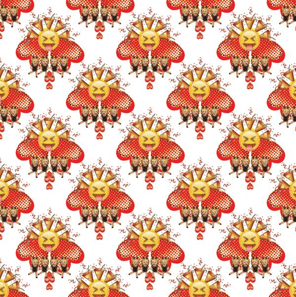emoji pattern design on ccs portfolios