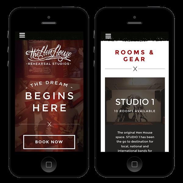 Music Studio intagram fullpage dark responsive website social media