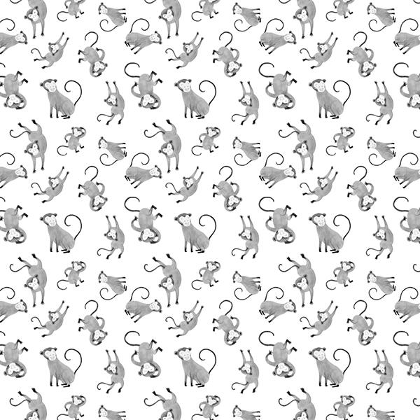 monkey pattern textile pattern