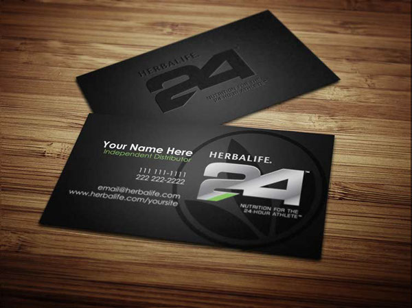 Herbalife business cards on behance for Herbalife business card templates