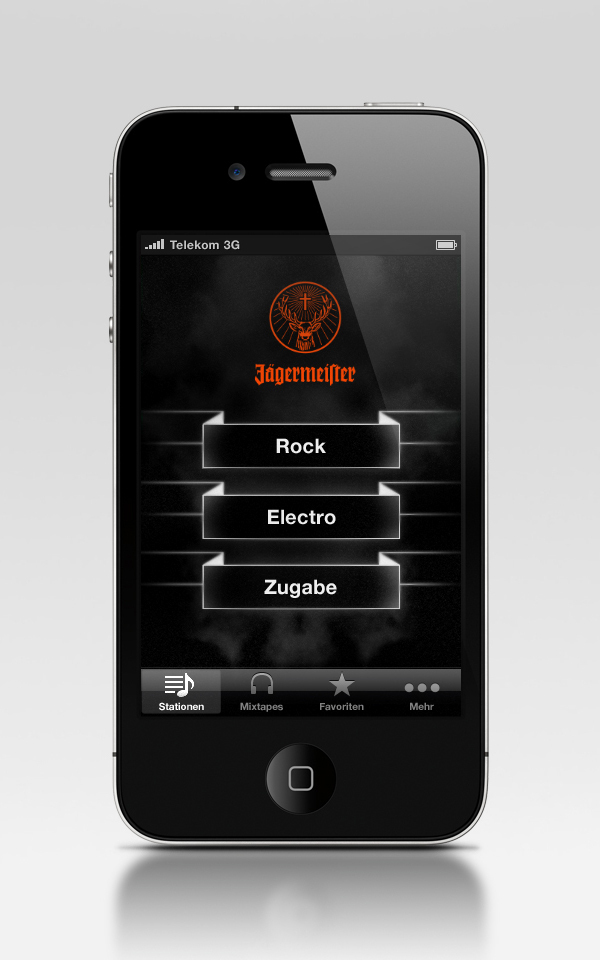 radio apps for iphone j 228 ger radio iphone app 2011 on behance 3338