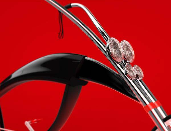 Bike Bicycle cruiser Vehicle Style seat saddle chopper mateusz chmura 3D organic concept bug insect wheel