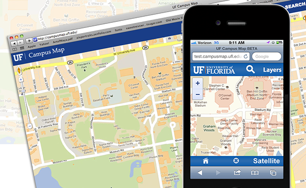 University Of Florida Campus Map On Behance